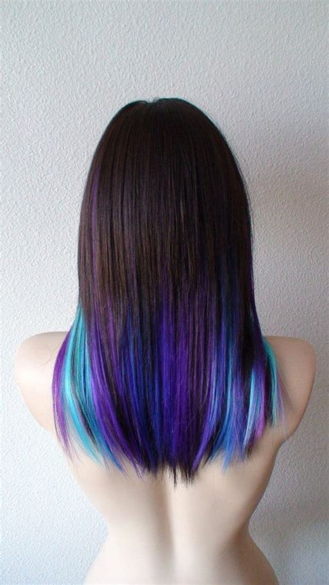 color underneath hairstyles the 25 best ideas about blue hair underneath on pinterest