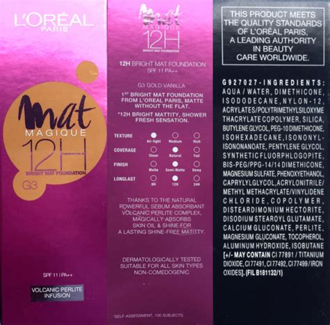 L Oreal Mat Magique Foundation l oreal mat magique 12h bright mat foundation review swatches