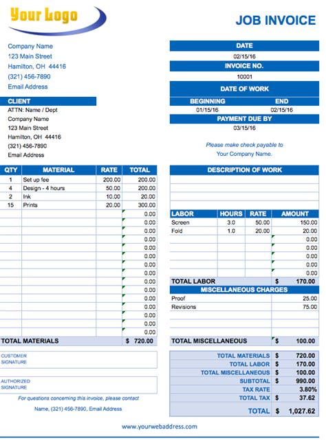 employee invoice template free excel invoice templates smartsheet