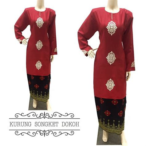 Baju Kurung Pesak Songket baju kurung moden songket dokoh ii all sold out saeeda collections