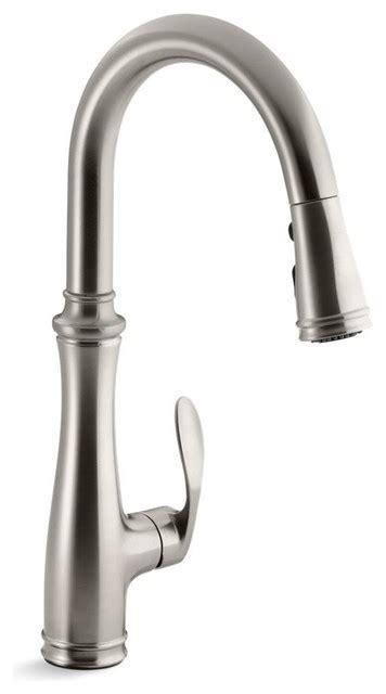 kraus stainless steel sink vs kohler kohler bellera single or 3 kitchen sink faucet