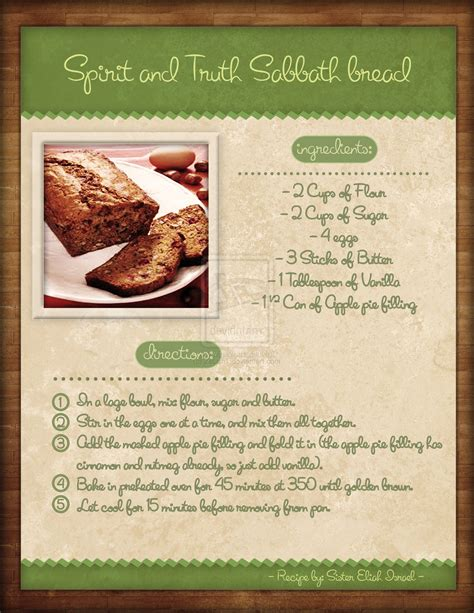 recipes for fwoi recipe book page by zeluht on deviantart