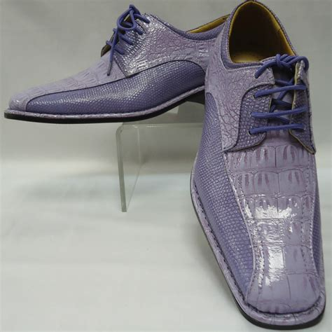 mens awesome lilac lavender two tone faux croco dress