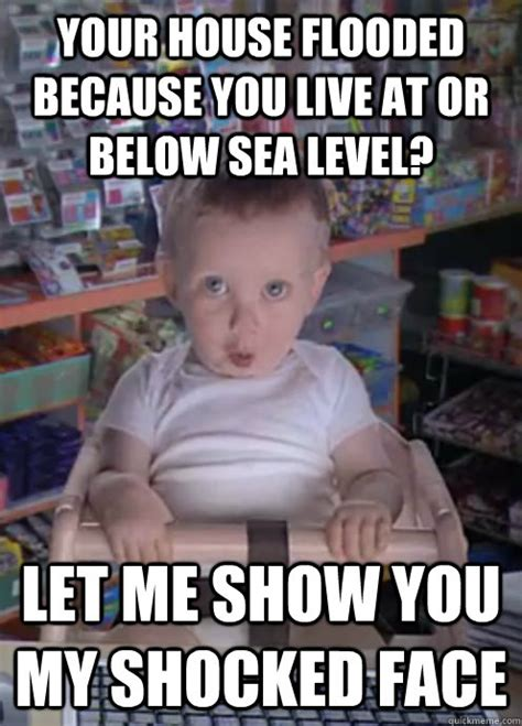 Sarcastic Meme Face - sarcastic shocked baby memes quickmeme