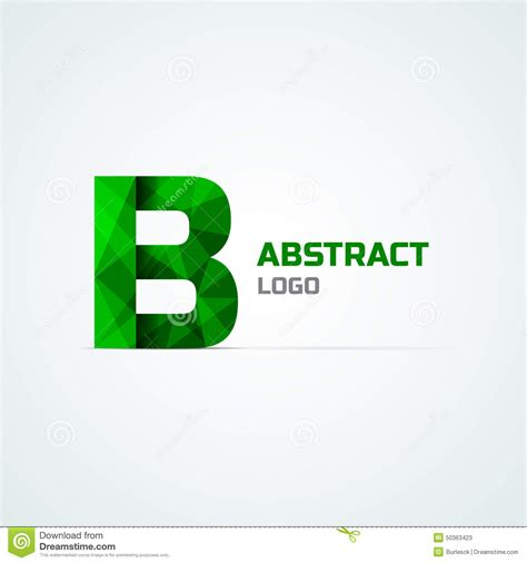 text logo template letter b logo template stock vector image 50363423