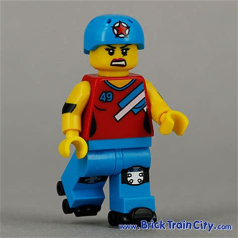 Lego Orange Roller Skate Lego Accessories roller derby 71000 lego minifigures series 9 review