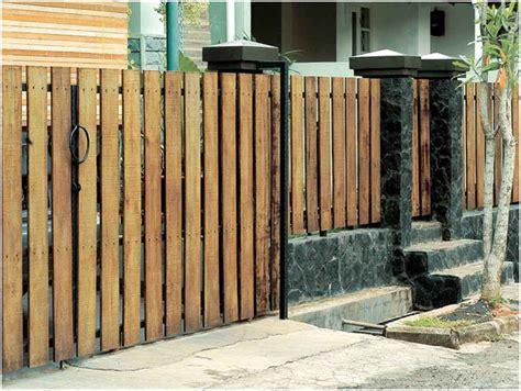 pagar rumah minimalis gaya kontemporer desain rumah unik