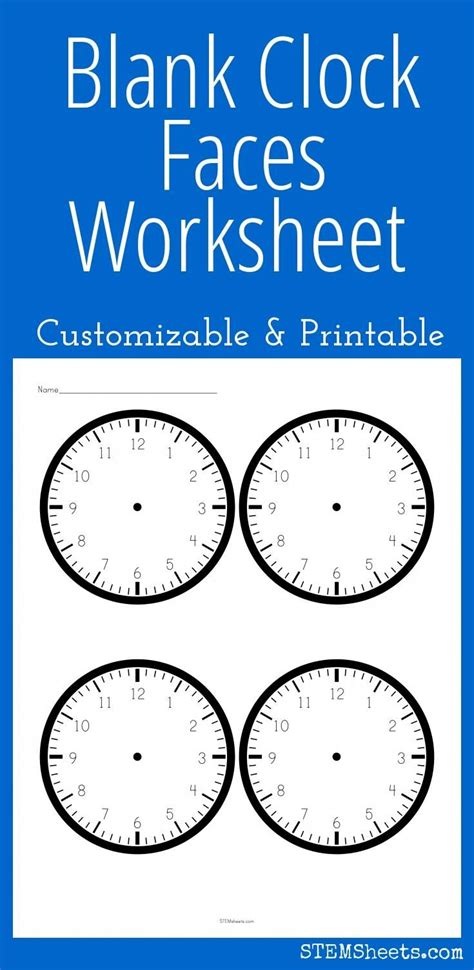 printable clock worksheets 17 best images about math stem resources on pinterest