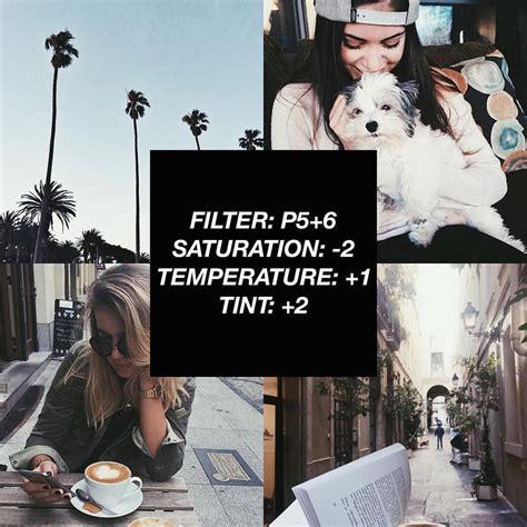 vscocam filter tutorial vscocam filter p5 6 saturation 2 temperature 1 tint