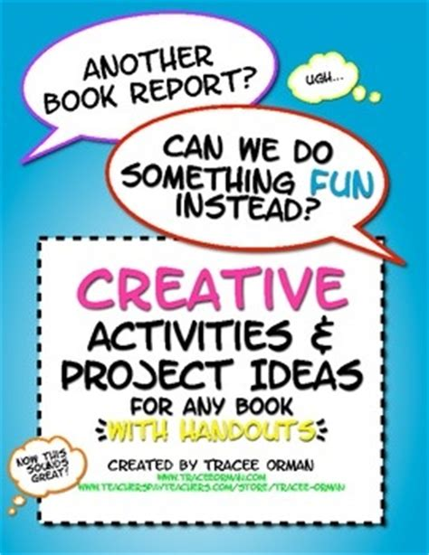 any will do a novel creative activities for any novel or story with