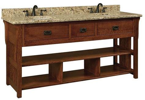 amish bathroom vanity cabinets amish 72 quot lancaster mission open shelf double bathroom