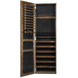 lighted jewelry armoire home decorators collection artisan wall mount jewelry armoire with mirror in light oak