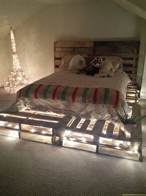 bed with pallets how to create a wooden pallet bed pallet ideapallet idea