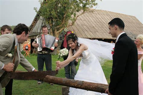 Wedding Log by German Wedding Tradition Sawing A Log