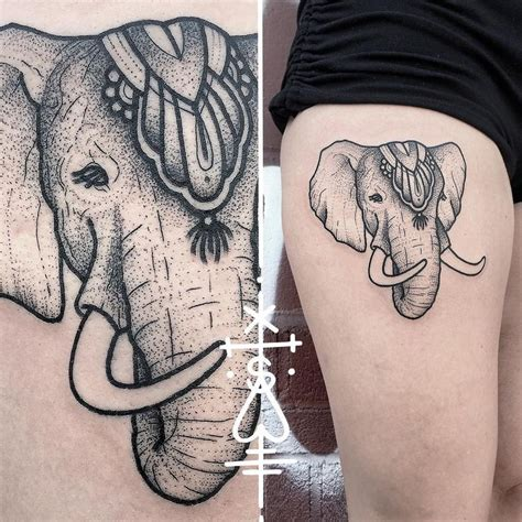 elephant thigh tattoo best 25 circus elephant tattoos ideas on