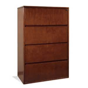 4 drawer lateral file 37x20x56h dark cherry wood