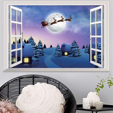 Stickers For Rooms Decoration by Decorations 3d Windows Wall Stickers Living Room