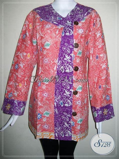 Kemeja Kantor Wanita Lengan Panjang Bahan Silk model baju batik kerja wanita lengan panjang