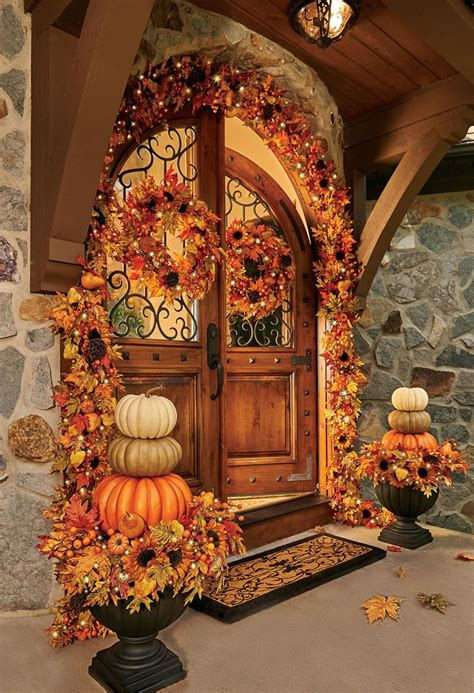 pictures for decorating outside fall decorating ideas improvements blog