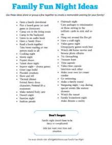 12 family fun night ideas free printable money saving mom 174
