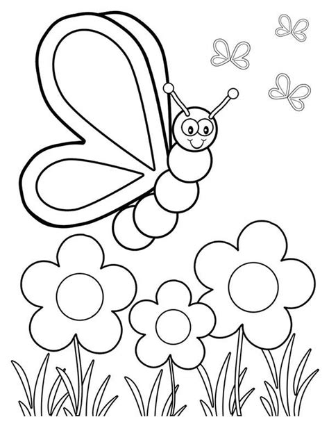 images of spring flowers coloring pages spring butterfly and three spring flower coloring page
