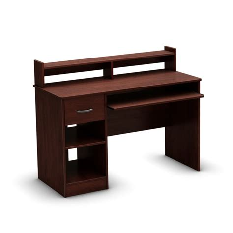 computer desk wooden wooden computer desk with shelves home design ideas