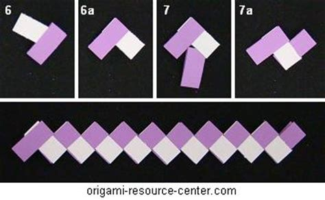 Folded Paper Chain - gum wrapper chain variation that uses less paper