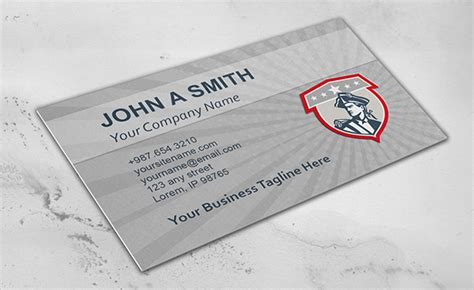 Template For Cards For Soldiers by Business Cards Free Premium
