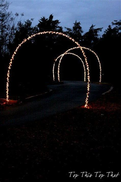 outdoor christmas lights and diy arches