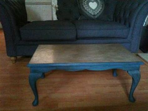 vintage coffee table sloan chalk paint aubusson blue and linen ebay