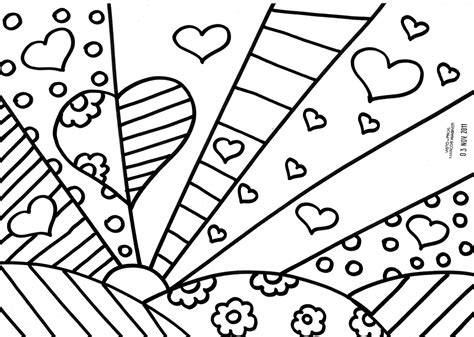Romero Britto Coloring Pages Coloring Pages Romero Britto Coloring Pages