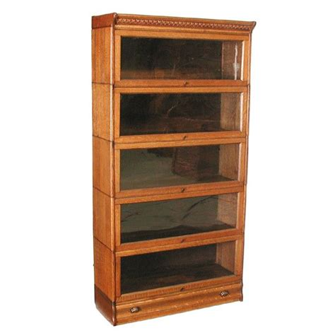 43 5 stack oak lawyers bookcase lot 43