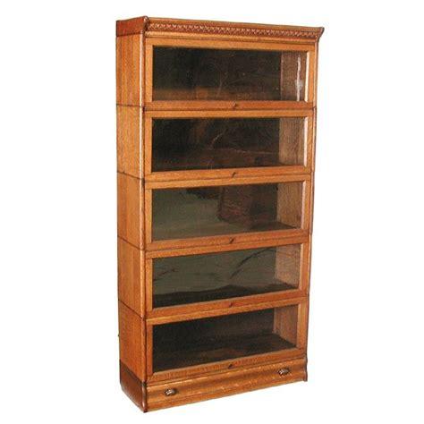 Lawyers Bookshelves 43 5 Stack Oak Lawyers Bookcase Lot 43