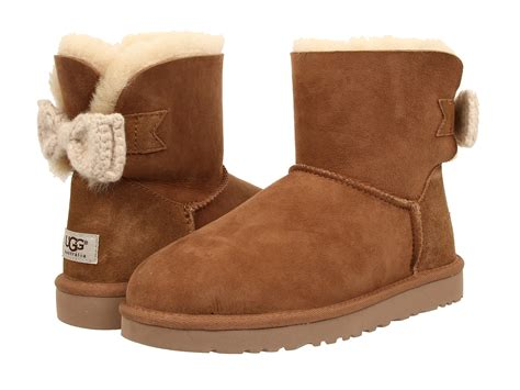 knitted uggs ugg mini bailey knit bow