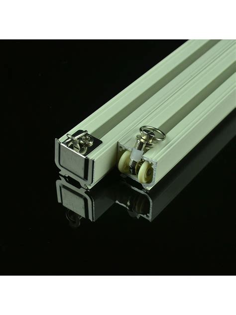 double wall brackets for curtains chr8122 ivory double curtain tracks ceiling mount or wall