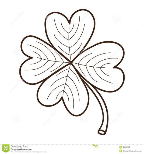 sketchbook clover sketch clover leaf isolated on white stock vector image