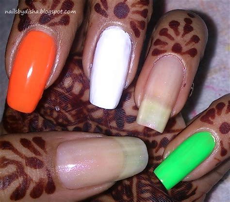 indian nail art tutorial indian independence day nails nail art gallery step