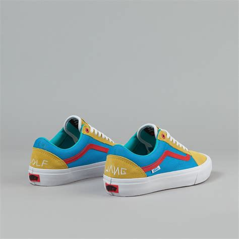 Vans Golf Wang 5 vans skool pro shoes golf wang yellow blue flatspot