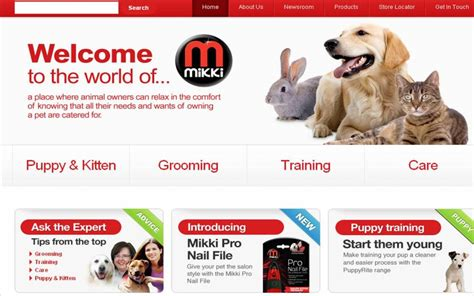 comfort website the new mikki website brings pet care solutions to the