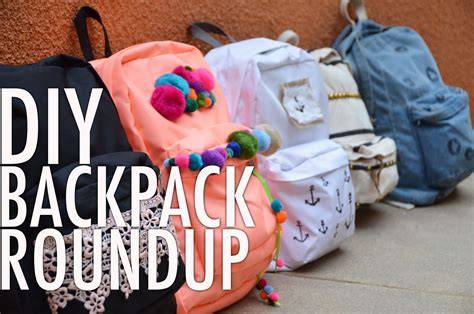 ideas for hanging backpacks diy backpack bonanza roundup with mr kate youtube