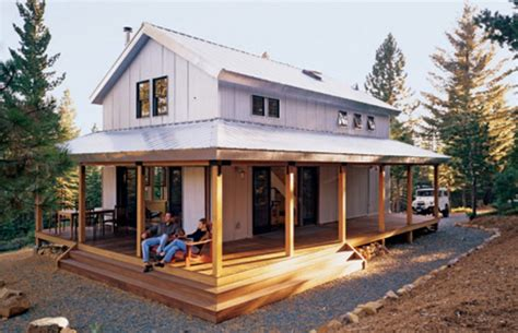 Barn Style House Plans With Wrap Around Porch by Designing The Small House Buildipedia