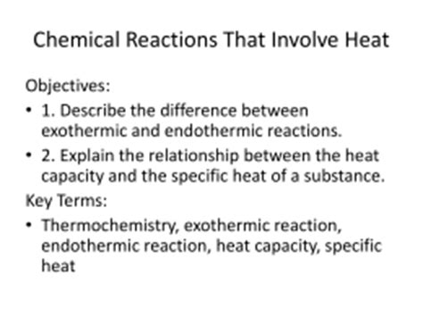 Worksheet Introduction To Specific Heat Capacities Answers