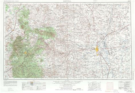 roswell texas map roswell topographic maps nm usgs topo 33104a1 at 1 250 000 scale