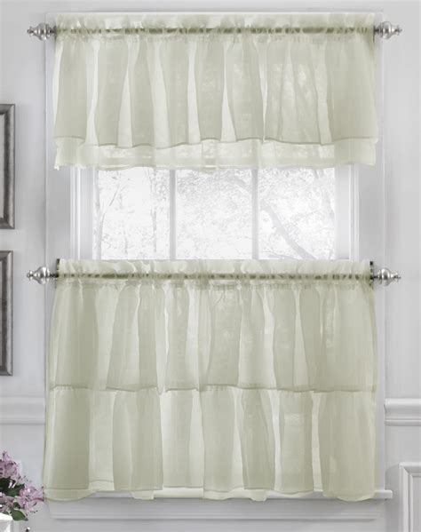 Kitchen Curtains Valances Tier And Valance Curtains White Lorraine