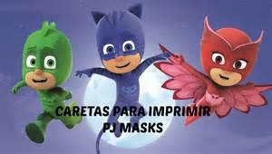 caretas pj mask imprimir gatuno gekko buhita printables catboy gekko owlette