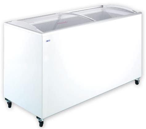 Sliding Curved Glass Freezer 520 L udd 400 scb chest freezer with sliding curved glass top