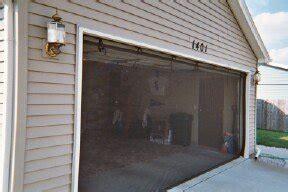 garage door screen standard with zipper 16x7 black