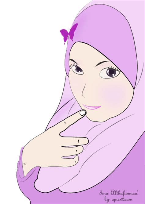 by muslimah soleh gambar kartun muslimah solehah