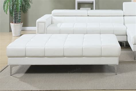 white cocktail ottoman white bonded leather cocktail ottoman