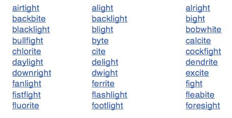 Words That Rhyme With Light by The Best 28 Images Of Words That Rhyme With Light Ryo